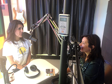 KX 93.5 radio host Caroline Bruderer interviews local Lori Norman, of the Pillowcase Project, which repurposes cases as dresses for kids in Kenya and teaches women to sew.