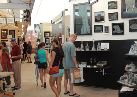 Spacious aisles beckon visitors at Art-a-Fair, set to open next month.