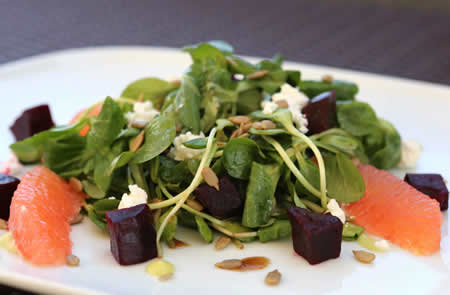 Nirvana's beet salad.