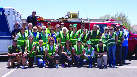 : Laguna Beach Community Emergency Response Team members joined the annual training exercise in San Juan Capistrano