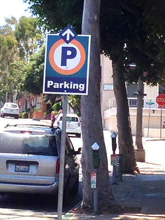 The city recently put up new, uniform parking signs around town to make available lots clearly visible to motorists and hopefully improve congestion.