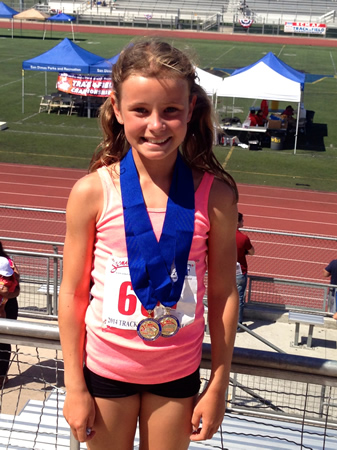 Maija Shaw represented Laguna Beach at a regional track meet.
