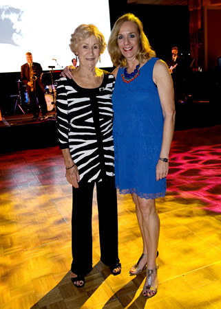 Marty Olds, left, and Amy Larson, of Laguna Beach, co-chaired this year's Spring Celebration.