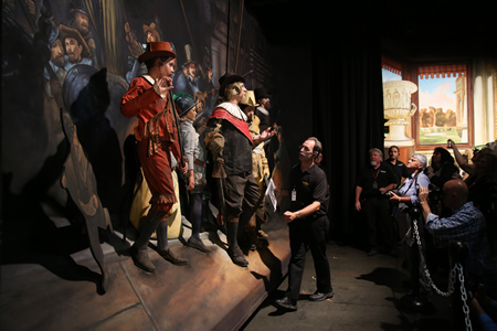 "Three-time volunteer Luke Pacheco is among the cast in the Pageant of the Masters' ""The Night Watch"" scene."