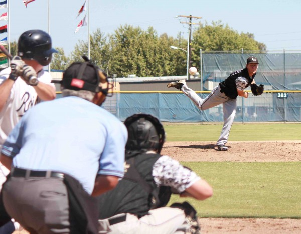 Grant Wilhelm pitched a complete game to pick up the win in CIF quarterfinals at home against Sonora on Friday, May 30. PHoto by  Robert Campbell