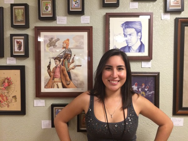 LCAD scholar Monica Magana with her work.