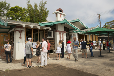 Well-wishers attend Sunday's groundbreaking at well-loved location for a new branch of Urth Caffé.
