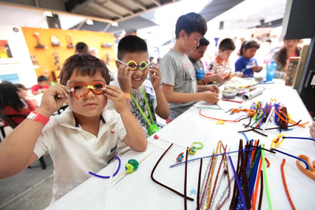 Not even European Optical carries these custom designed specs, fashioned by last year's participants in Family Art Day