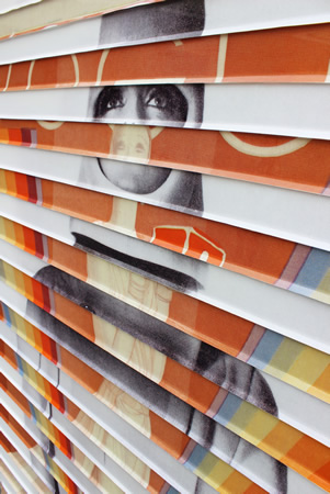"""A detail of James Verbicky's """"Divisionaire 4,"""" part of a new gallery exhibition."""