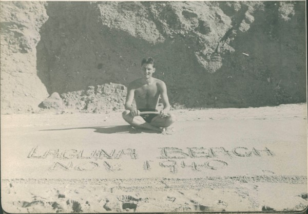 Bill Hartley on Victoria Beach, 1940