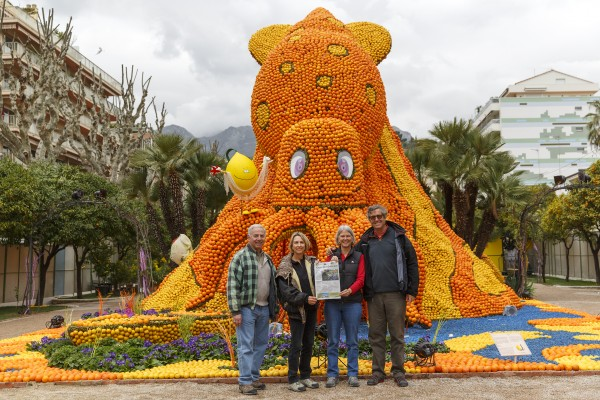 Locals Vickie and Tom Lamb, right, visting Laguna's sister city Menton, France, during their citrus festival.