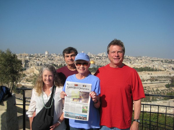 Locals Laura and Vince DiBiasi with Diane and Jim Van Dalfsen in Israel.
