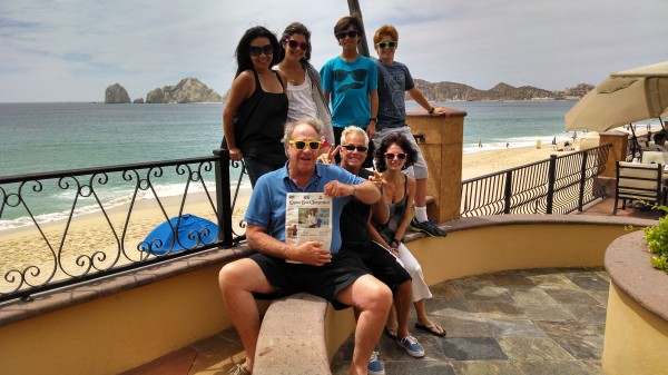 Norm, Ying, Tava and Shelby Clark with Coleman, Ann Marie and Jack Raffo in Cabo San Lucas.