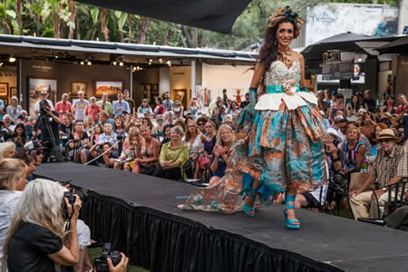 """Most Glamorous choice went to Adam Neeley for his """"Oceana"""" modeled by Alicia Chavex; his creation also won the People's Choice award."""