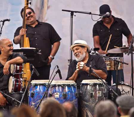 Poncho Sanchez returns to perform in the finale of the Festival of Arts' jazz series.