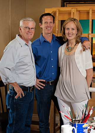 Pabst family artists, from left, Charles, Michael and Cara will be featured at Signature Gallery.