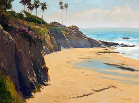 """Tide Pool At Picnic Beach,"" one of the works on display at Pacific Edge."