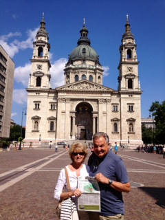 Gil and Judy Thibault outside St. Istvan's Basilica, in Budapest, Hungary.