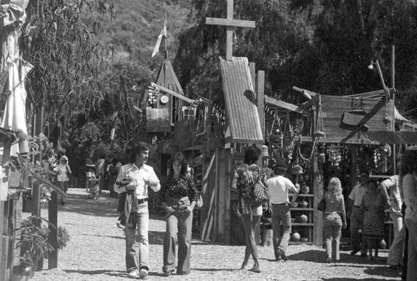 A scene from the Sawdust Festival's early years.