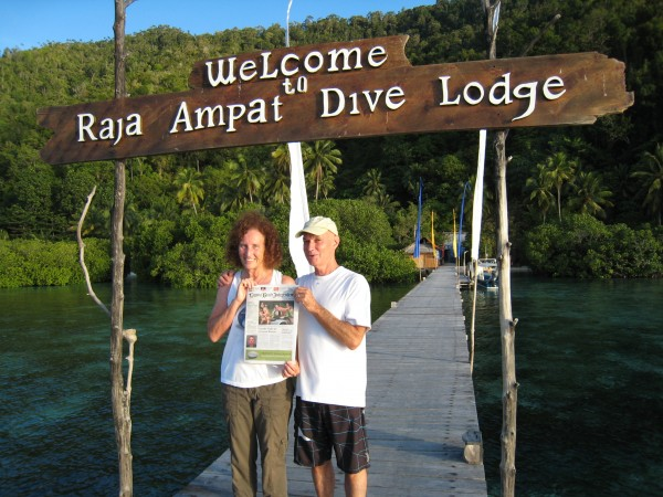 "Locals Beth and Steve Wood visited Raja Ampat in West Papua, Indonesia, where they recorded music for Greg MacGillivrey's film ""Journey To The South Pacific."" ""We brought along a copy of the Indy so it could experience life one-second south of the equator."""