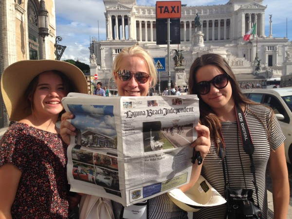 Local Christina Fugate, center, with her daughters Caterina and Sarah on a trip this month in Rome.