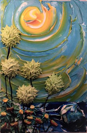 """Allen McKenzie's """"Ocean Paradise"""" blooms at Signature Gallery."""