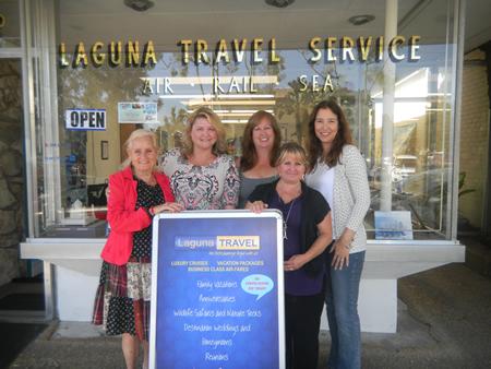 Laguna Travel agents, from left, Carrie Joyce, Jamie Black, Karen Kanner, Lisa Atles and Stephanie Reid.