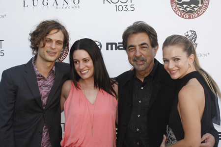 Joe Mantegna, second from right, with guests at the Festival of Arts' gala.