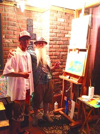 Bill Bryan, left, with John Chaney