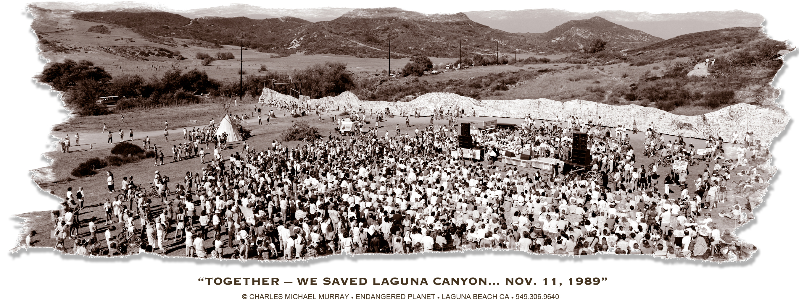 A rally of 7,500 people protesting development in Laguna Canyon halted an Irvine Company developing 25 years ago.
