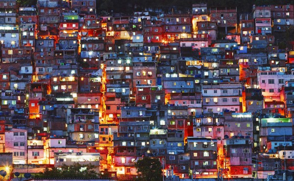 """""""Favela Morro do Cantagalo,"""" an image of the slums in Rio de Janeiro, adds a bit of incongruity itself to the collection by the Festival of Arts."""