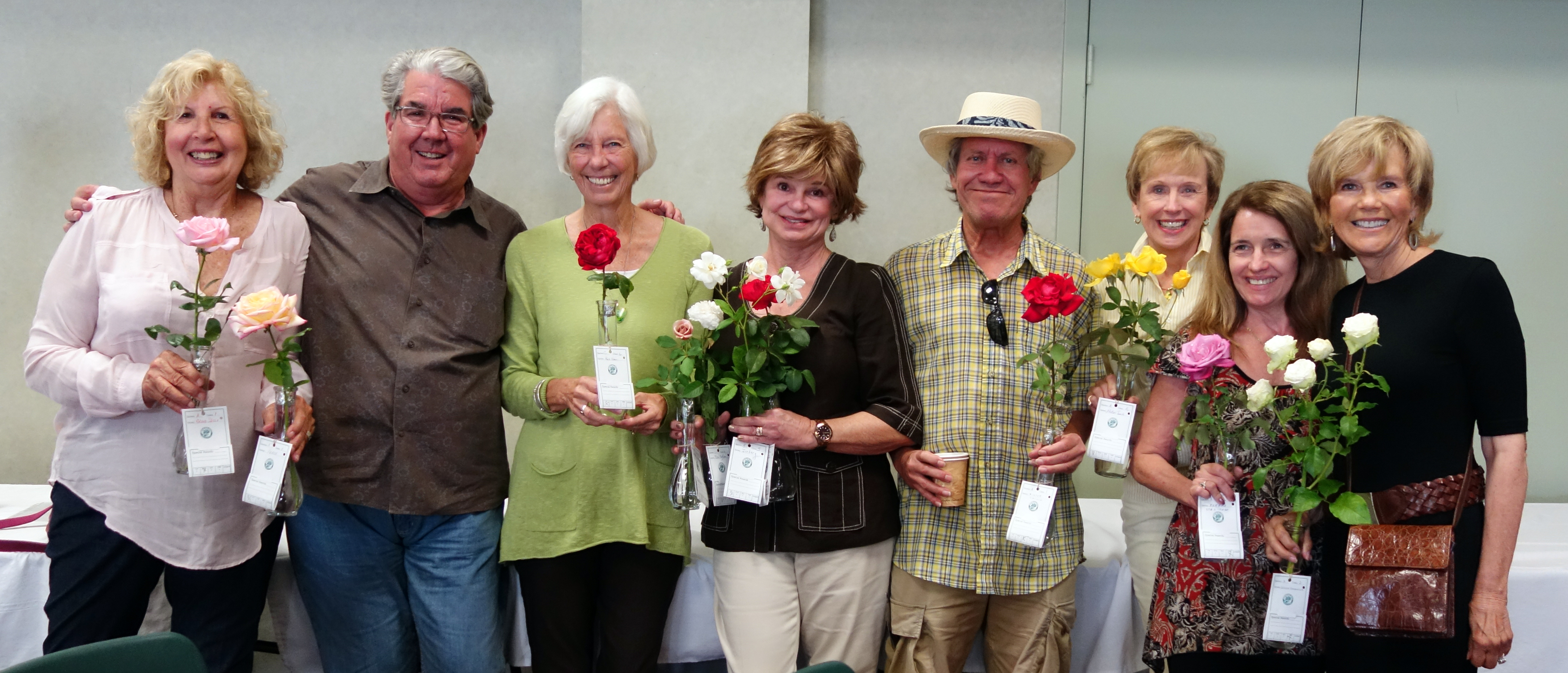 Tom Carruth, second from left, judged the show.