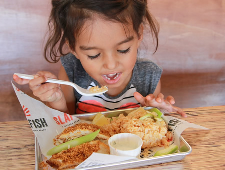 Kids eat free on Wednesdays.