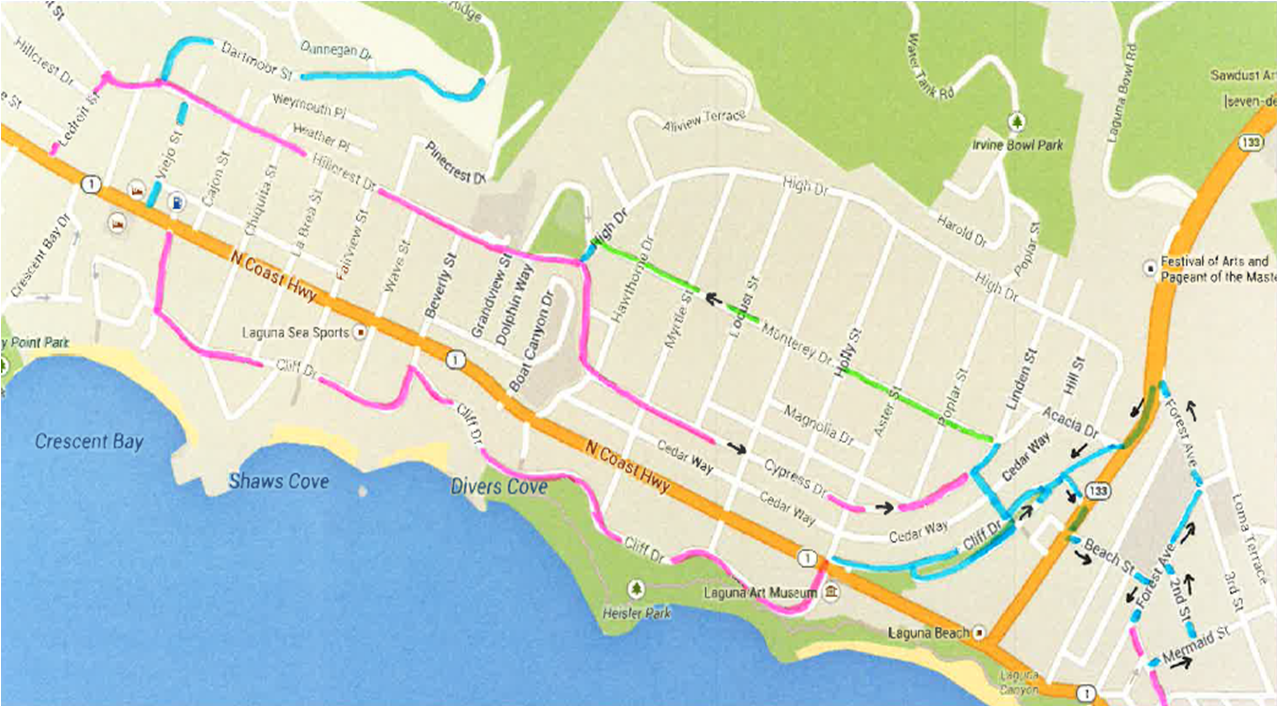 Source: city report.  A non-highway route for cyclists will get new sinage.
