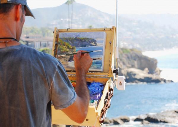 A plein- air painter.