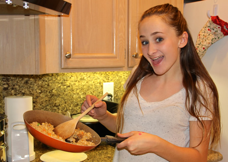 Olivia Ladaire stirs up a winning rice dish.