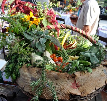 The community garden yields a cornucopia of abundance.