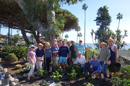 Sister Cities supporters beam with the results of their gardening efforts in Heisler Park