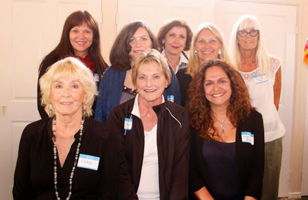 From left, front row: Carol Beer, Karen Walker, and Eimi Betar; back row, Inez Fraser, Heather Byer, Jo Murphy, Stephenie Bash and San Dee Frei. New members not pictured: Mary Blum, Kae Espeland, Vidya Reddy, and Karen Newkirk.