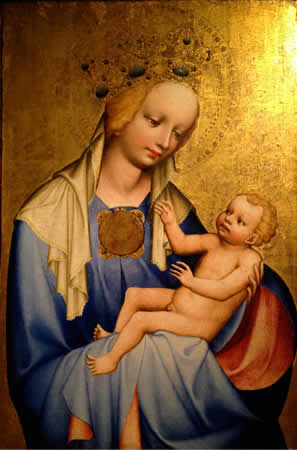 Madonna and Child from the St. Agnes convent, among the works captured by recent visitors to Prague.  Photo by Beth piney.