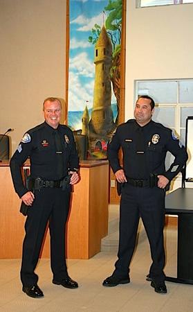 Dave McGill, left, and James Cota. photo courtesy of laguna Beach Police Department.