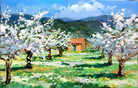 """Bertran's """"Les Grand Clements Cherry Blossoms,"""" is part of the new show."""