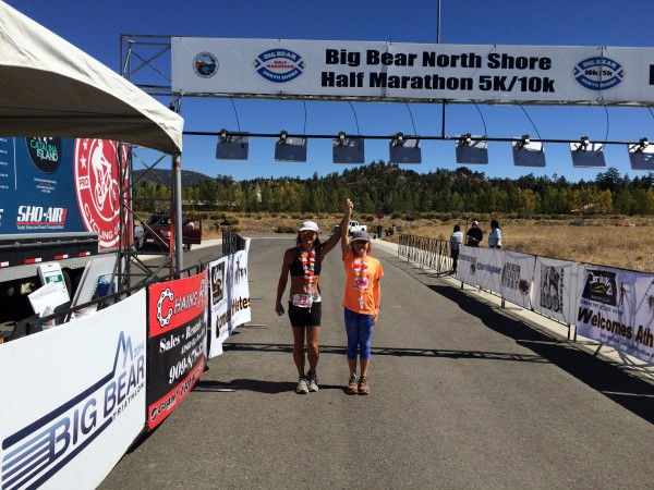 Laguna Beach locals Kasey Konkel and daughter Hannah are still smiling after a recent race.