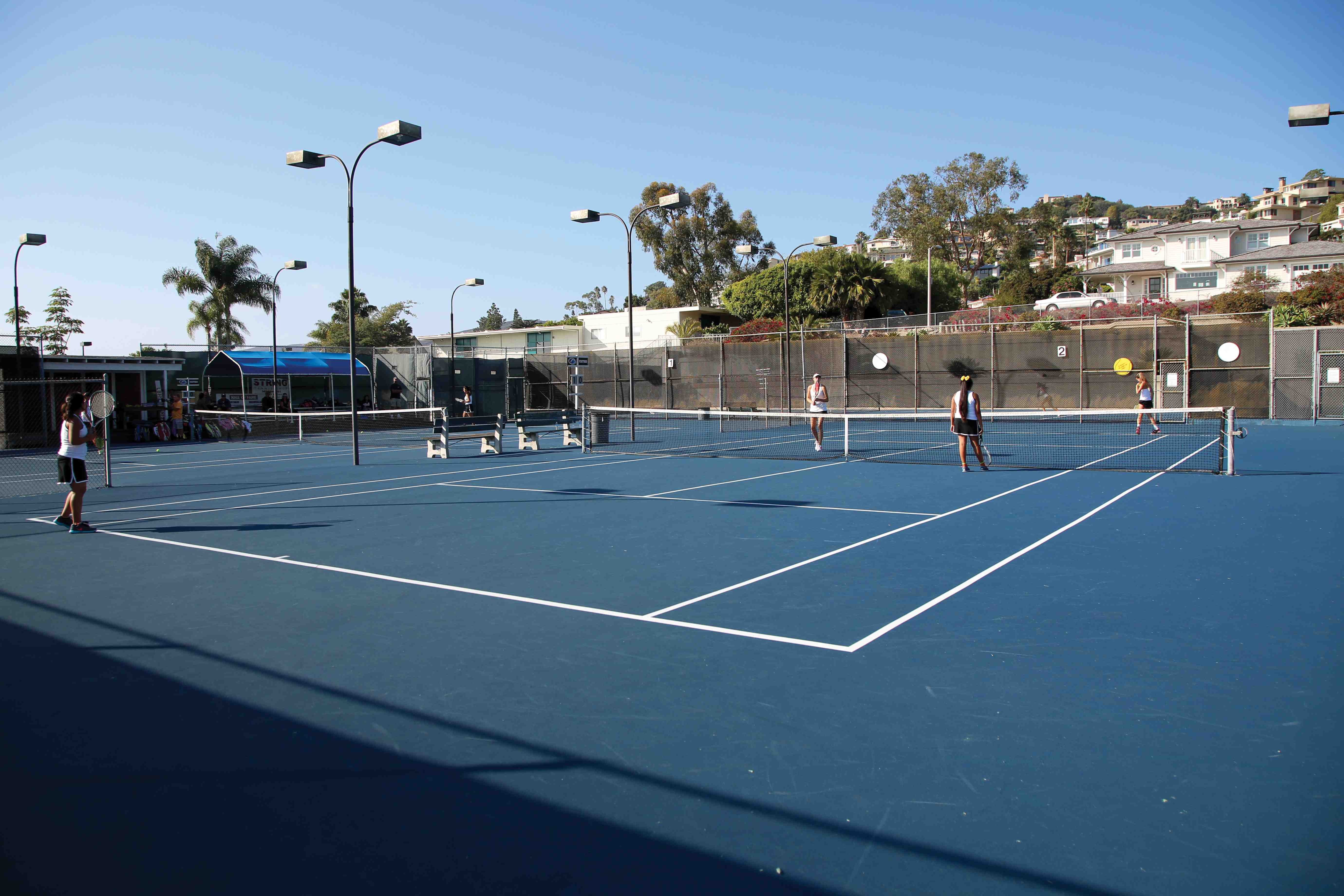 Repairs of the high school's tennis courts get the go-ahead.