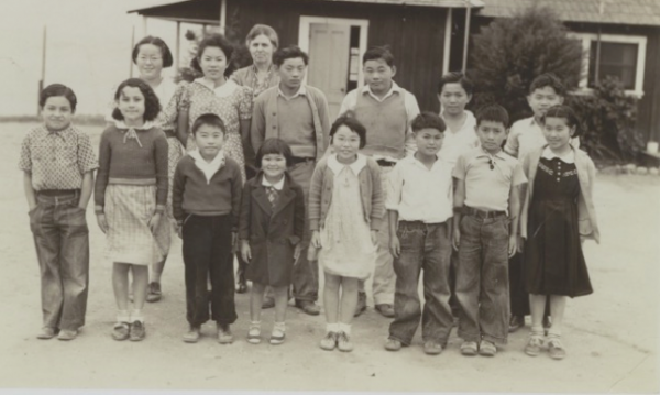 Students and instructor at the Japanese Language School, a community center built in 1934 by the Japanese who farmed the hillsides surrounding Crystal Cove on land leased from the Irvine Company. The building, seized by the Coast Guard during World War II, exists in the Crystal Cove historic district, the park website says.