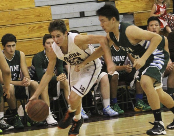 Junior guard Isaac Wulff scored a team high 17 against Irvine at Dugger Gym on Friday, Dec. 12. Credit: Dante Fornaro