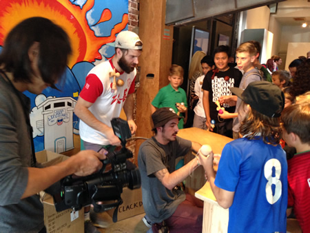 Kendama master Kristian Aynedter signs autographs at One Laguna. Photo by Scot Sanchez.