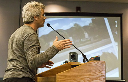 Sculptor Louis Longi, succeed in winning a development permit from the Coastal Commission for his Laguna Beach live/work project at a hearing in January 2015..