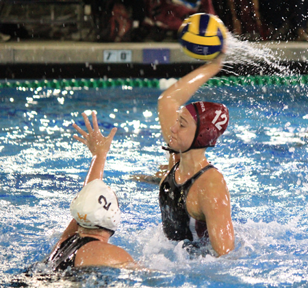 Aria Fischer winds up for one of her five goals against Foothill in the Finals of the Holiday Classic at Newport Harbor High on Saturday, Jan 3.