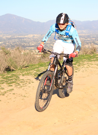 Thurston eighth grader Caden Bencz warms up during practice with the newly formed Laguna Beach Interscholastic Mountain Bike Team. Photo Credit: Robert Campbell